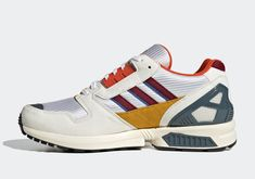 The adidas ZX 8000 Appears With Retro Burgundy And Blue Accents