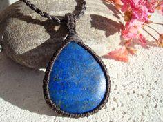 Lapis Lazuli Necklace/Blue Gemstone/Lapis by GaiasGiftsToUs