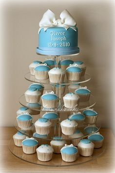 Blue Christening Tower by donna_makes_cakes, via Flickr