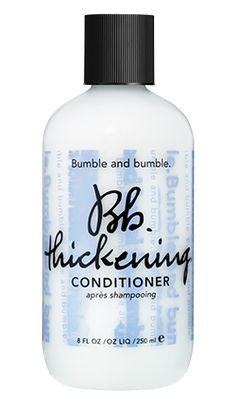 thickening conditioner – It moisturizes without weight, protects, and contains a silk powder which adheres to hair strands and separates for fulln