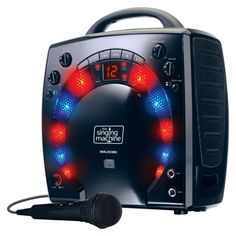 Singing Machine CD+G Mini Lightshow Karaoke System - Black (SML283BK)   Target 49.99$