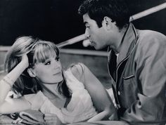 Françoise Dorléac and Jean-Claude Brialy in La chasse à l'homme, 1964. Catherine Deneuve, Claude, New Wave, Marie, 21 Mars, French, Photography, French People, French Language