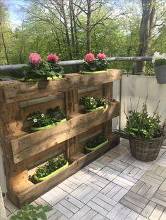 Palettenbeet Balkon DIY