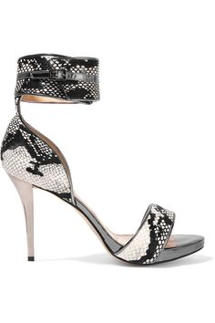 Lucy Choi London Woman Cole Snake-effect Leather Sandals Animal Print Size 37 Lucy Choi London E1qF1