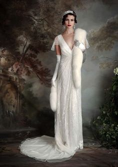 Beautiful art deco inspired wedding gown, this the Thelma, from Eliza Jane Howell. - Thelma Gown | Eliza Jane Howell