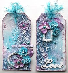 Ingrid's place: art journal page and two tags