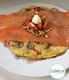 Ei pannenkoek met groentes en zalm – Culime.nl