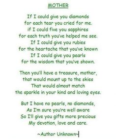 Mothers Day Poems From Daughter To Mother