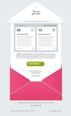 Cool design for an email invite