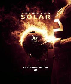 Gif Animated Solar Effect Photoshop Action