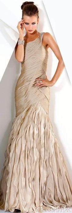 Jovani Latte Evening Dress