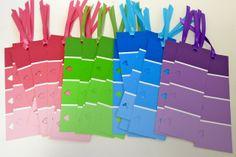 mleballard & family: From Pinterest: Paint Sample Valentine Bookmarks