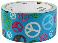 "Amazon.com: Duck Brand Peace Sign Printed Duct Tape, 10 yards Length x 1-7/8"" Width: Home Improvement"