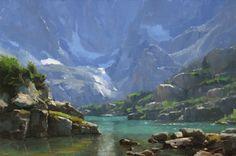 """Lake of Glass (Study)"" by Dave A. Santillanes"