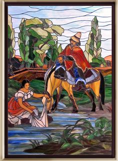 Glass Panels, Chile, Stained Glass, Deco, Painting, Fictional Characters, Home, Cubism Art, Ceramic Art
