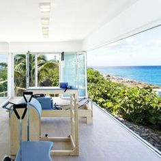 #Workout and let your eyes #wander at St. Martin Villa, La Dacha.