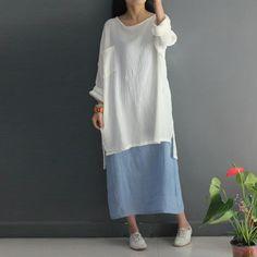 f4389eefc0 Women summer short sleeve cotton linen dress