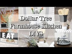 DIY home decor explanation 6285351335 - Truly easy but inspiring styling suggestions for a really inspiring yet truly refreshing rooms. For more awesome information , check out the image link today Dollar Tree Decor, Dollar Tree Crafts, Country Farmhouse Decor, Farmhouse Kitchen Decor, Diy Kitchen Decor, Diy Home Decor, Eat Sign, Dollar Stores, Decorating Your Home