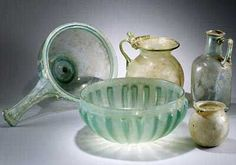 Roman sea foam green glass from Pompeii