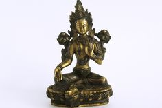 Tibetan Green Tara Statue  for sale at Himalayan Wang Shoppe