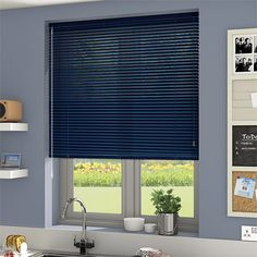 Essence Imperial Blue Venetian Blind - Slat from Blinds Bay Window Blinds, Blinds For Windows, Beautiful Blinds, Aluminum Blinds, Blackout Shades, Interior Design Courses Online, Bedroom Blinds, Blinds Design, White Marble