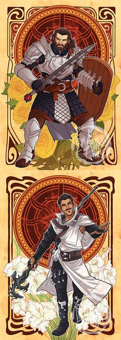 http://aimosketchcard.tumblr.com/post/107461306136/aimosketchcard-decorative-heroes-companions