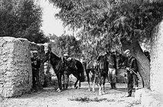 Soldados chilenos en Chorrillos, el 14 de enero de 1881. Fotografía del Archivo Courret