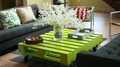 Europaletten recyceln – DIY Möbel aus Holzpaletten - Europaletten recyceln garten möbel bett couchtisch grün wohnzimmer