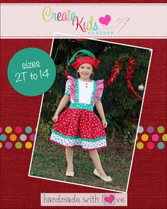 Create Kids Couture - Clementine's Casual Top and Dress PDF Pattern, $5.60 (http://createkidscouture.com/clementines-girls.html)