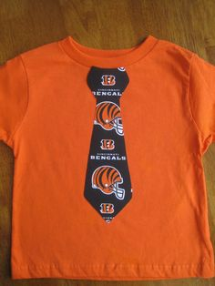 d79dc5f5f325f Cincinnati Bengals Appliqued Tie Shirt by TheMommaFish on Etsy, $12.00 My  Ohio, Tied Shirt
