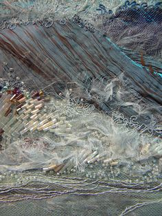 "Carol Walker, Surge (detail), 8x9.5"", 3-2013 #fiber art #embroidery"
