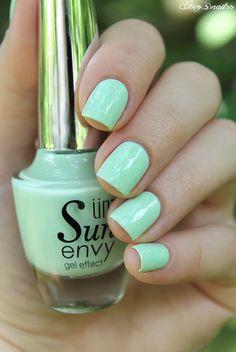 mint nails #cocosnailss Mint Green Nails, Mint Nails, Nail Polish Colors, Pretty Nails, You Nailed It, Chevron, Kitty, Cake, Green Nail