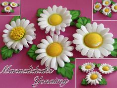 MARGARITAS DE FOAMY O GOMA EVA CON  TERMOFORMADO Foam Sheet Crafts, Foam Crafts, Easy Crafts, Diy And Crafts, Crafts For Kids, Handmade Flowers, Diy Flowers, Paper Flowers, Clay Pen
