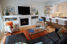 Beaches residence family room - contemporary - living room - toronto - Judith Taylor Designs