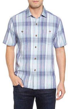 Pay for Tommy Bahama Banyan Cay Plaid Silk Blend Camp Shirt, Image Mens Big And Tall Shirts, Tommy Bahama, Sports Shirts, Shirt Style, Men Casual, Nordstrom, Plaid, Camping, Silk