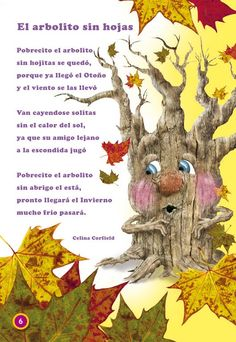 Great for fall. Preschool Poems, Preschool Spanish, Spanish Activities, Teaching Spanish, Bilingual Classroom, Bilingual Education, Classroom Language, Spanish Classroom, Spanish Songs