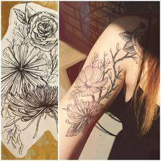 Flower Tattoo  by Morgan MacDonald at Seven Crowns Tattoo in Toronto.