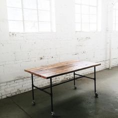 Rustic Industrial Mobile Table | Work Station | Display Table | Dining Table | Kitchen Island