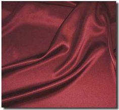 Burgundy satin silk.