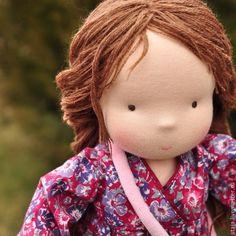 Купить Звездочка - бордовый, звездочка, вальдорфская кукла, waldorf doll, waldorf puppen, шерсть, хлопок