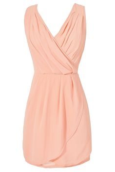 Bring Me Roses Cross Back Chiffon Dress in Peach  www.lilyboutique.com