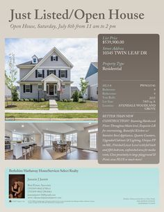 Just Listed/Open House Open House, Woodland, Mansions, House Styles, Building, Villas, Buildings, Palaces, Construction