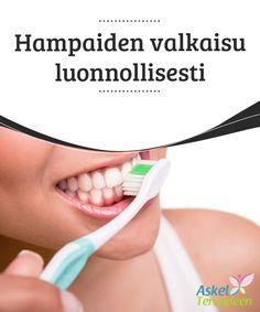 Hampaiden valkaisu luonnollisesti  Nykyään markkinoilla jyllää useita tuotteita hampaiden valkaisuun. Tuotteet ovat kuitenkin valmistettu hampaisiin tunkeutuvista ainesosista, jotka #vahingoittavat kiillettä #peruuttamattomasti. Mikäli haluat valkaista hampaasi, kokeile äärimmäisten keinojen sijaan näitä #luonnollisia keinoja.  #Kauneus