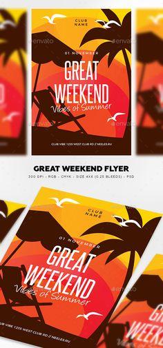 Great Weekend Flyer Template