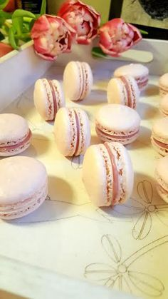 rosamakroner4 Yerba Mate Tea, Cake Recipes, Dessert Recipes, Norwegian Food, Kombucha, Nom Nom, Raspberry, Sweet Treats, Deserts