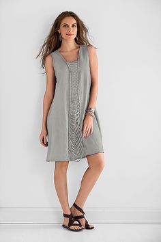 Lattice Dress by Cynthia Ashby: Linen Dress available at www.artfulhome.com