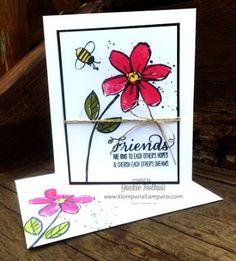 Stampin' Up! Garden in Bloom Stamp set. Klompen Stampers (Stampin' Up! Demonstrator Jackie Bolhuis)