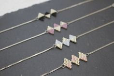 Bracelet Manon argent 925 et perles tissées : Bracelet par pluie-sauvage