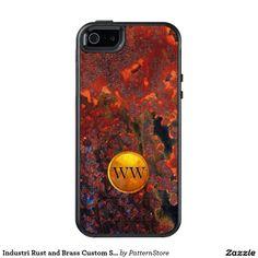Industri Rust and Brass Custom Steampunk Monogram OtterBox iPhone 5/5s/SE Case
