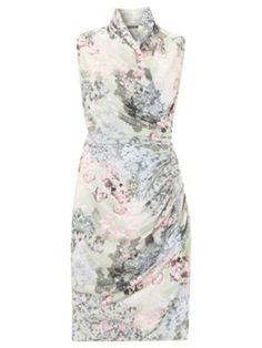 Soft Floral dress would be ideal for the wedding day - put with the white linen jacket or a pastel cardi in soft grey or mint. Use the pale blue feather and flower hair accessory. Off white shoes or rose gold sandals work well.   You could also put the dress with soft grey cardigan, silver shoes and still keep the mint wrap.  It also looks very nice with the nude wrap.